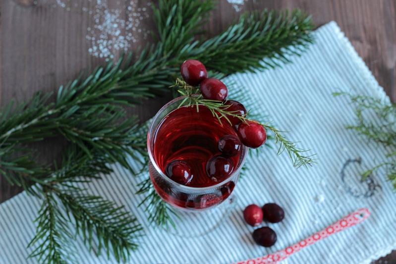 Alkoholfreier Cranberry Punsch / Adventskalendertürchen 15 23