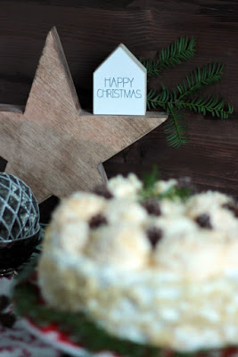Marzipan-Schneeballtorte mit Mohnmousse / Türchen Nr.20 33