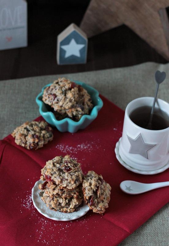 Kalendertürchen 1 - Frühstücks-Kekse mit Cranberrys und Kürbiskernen* 3