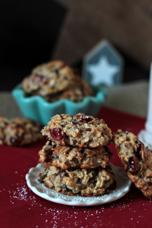 Kalendertürchen 1 - Frühstücks-Kekse mit Cranberrys und Kürbiskernen* 1