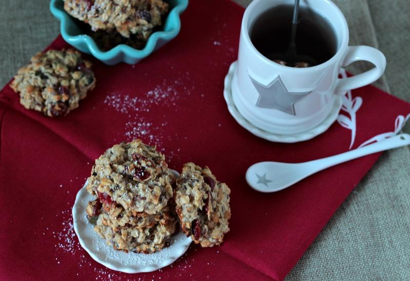 Kalendertürchen 1 - Frühstücks-Kekse mit Cranberrys und Kürbiskernen* 2