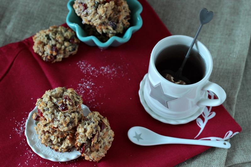Kalendertürchen 1 - Frühstücks-Kekse mit Cranberrys und Kürbiskernen* 4