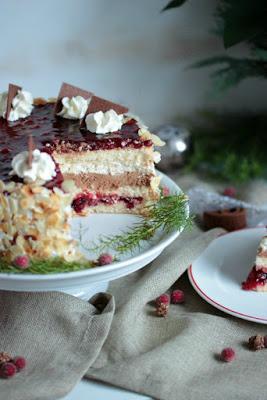 Preiselbeer Nougat Torte 4