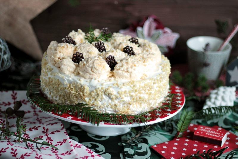Marzipan-Schneeballtorte mit Mohnmousse / Türchen Nr.20 32