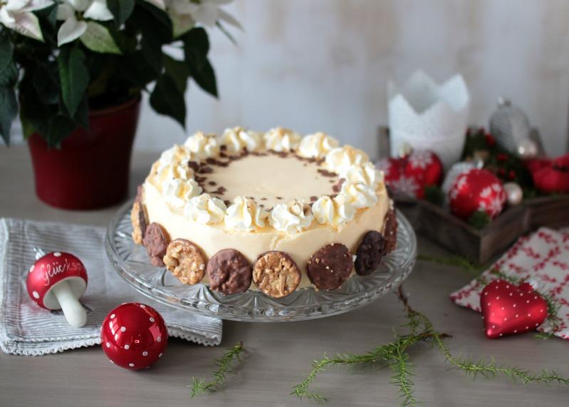 Nuss-Eierlikör-Torte mit Florentinern