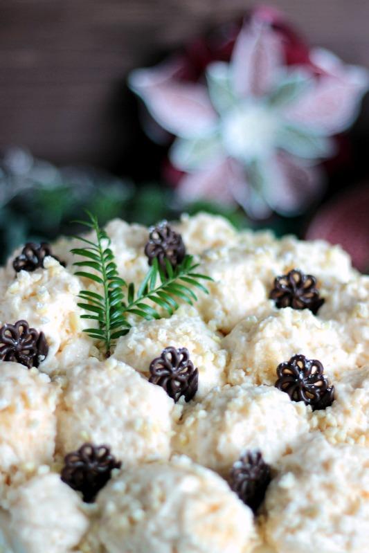 Marzipan-Schneeballtorte mit Mohnmousse / Türchen Nr.20 40