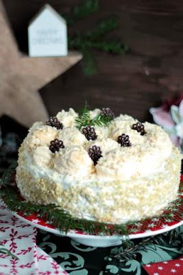 Marzipan-Schneeballtorte mit Mohnmousse / Türchen Nr.20 31