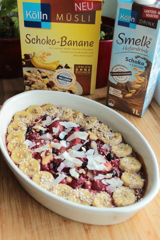 Baked Oatmeal - das gesunde Frühstück mit dem extra Schokokick* 1