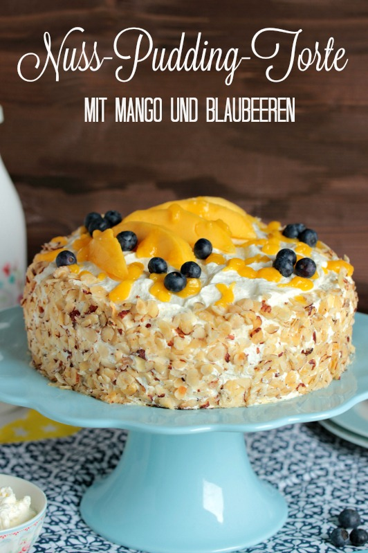 Nuss-Pudding-Torte mit Mango (glutenfrei) 1
