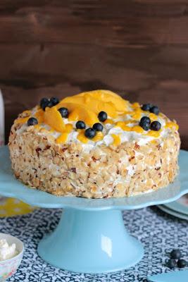 Nuss-Pudding-Torte mit Mango (glutenfrei) 8