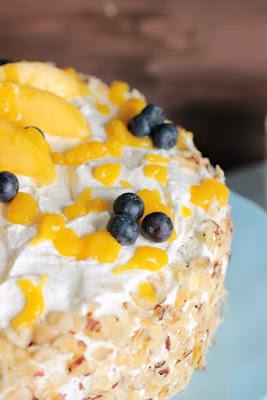Nuss-Pudding-Torte mit Mango (glutenfrei) 4
