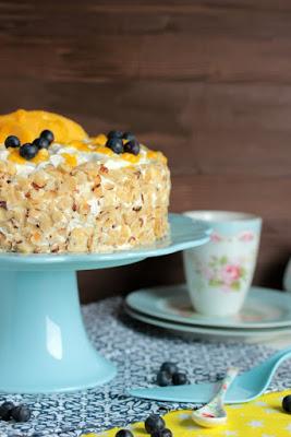 Nuss-Pudding-Torte mit Mango (glutenfrei) 3