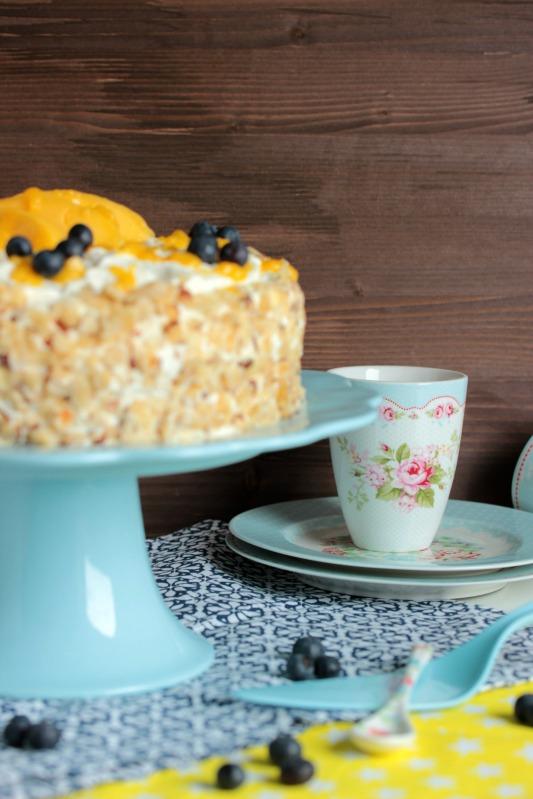 Nuss-Pudding-Torte mit Mango (glutenfrei) 5