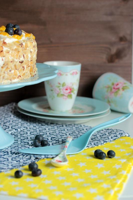 Nuss-Pudding-Torte mit Mango (glutenfrei) 17