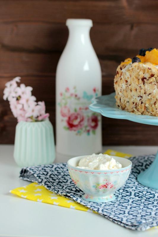 Nuss-Pudding-Torte mit Mango (glutenfrei) 6