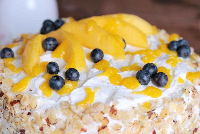Nuss-Pudding-Torte mit Mango (glutenfrei) 2