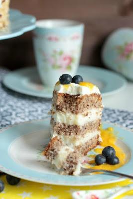 Nuss-Pudding-Torte mit Mango (glutenfrei) 19
