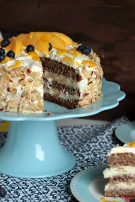 Nuss-Pudding-Torte mit Mango (glutenfrei) 16