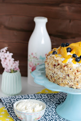 Nuss-Pudding-Torte mit Mango (glutenfrei) 9