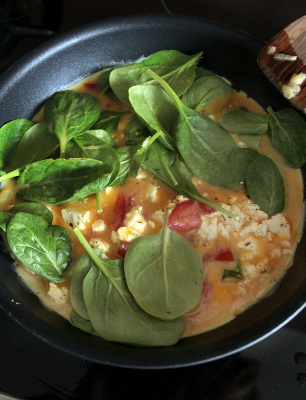 Rührei- Spinat Quesadillas für ein schnelles Frühstück 21