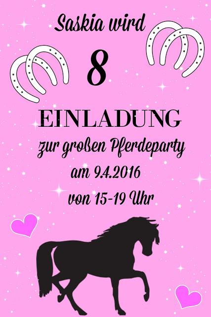 Pferde-Geburtstagsparty - Tolle Ideen für einen gelungenen Kindergeburtstag - Teil 1 - DIY, Deko, Gastgeschenke 1