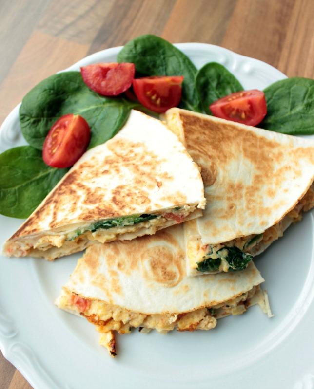 Rührei- Spinat Quesadillas für ein schnelles Frühstück 24