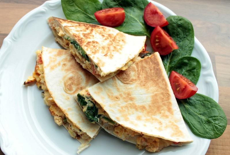 Rührei- Spinat Quesadillas für ein schnelles Frühstück 25