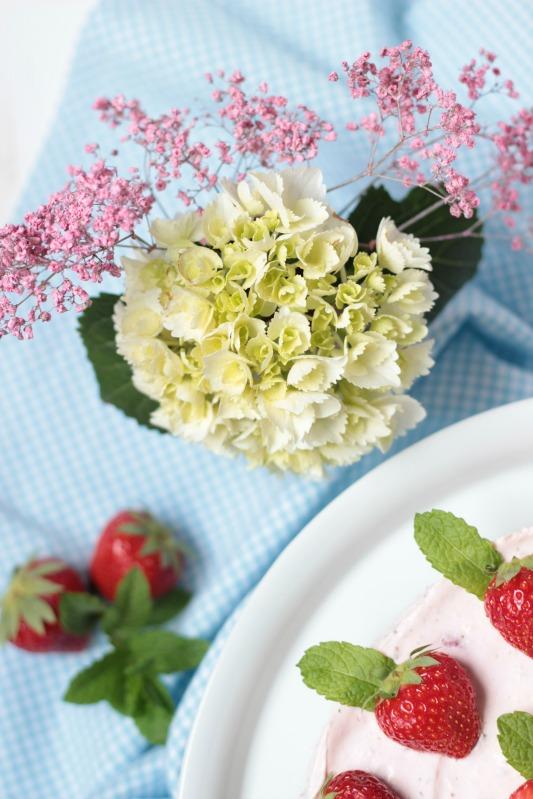 Erdbeer-Minz-Torte mit Müsliboden , ganz ohne backen* 8
