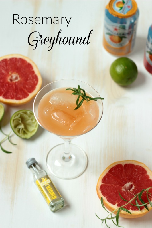 Rosemary Greyhound und leckeres Cocktail Eis * 1