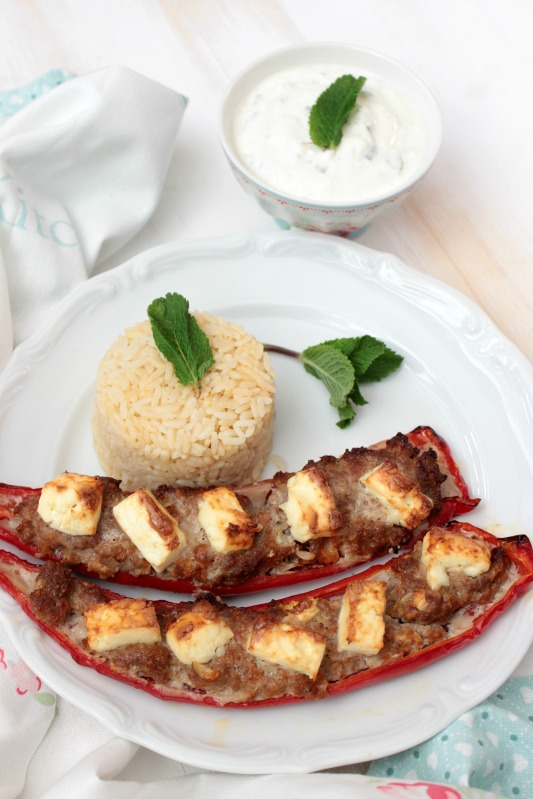 Ofenpaprika griechische Art mit Minzjoghurt 17