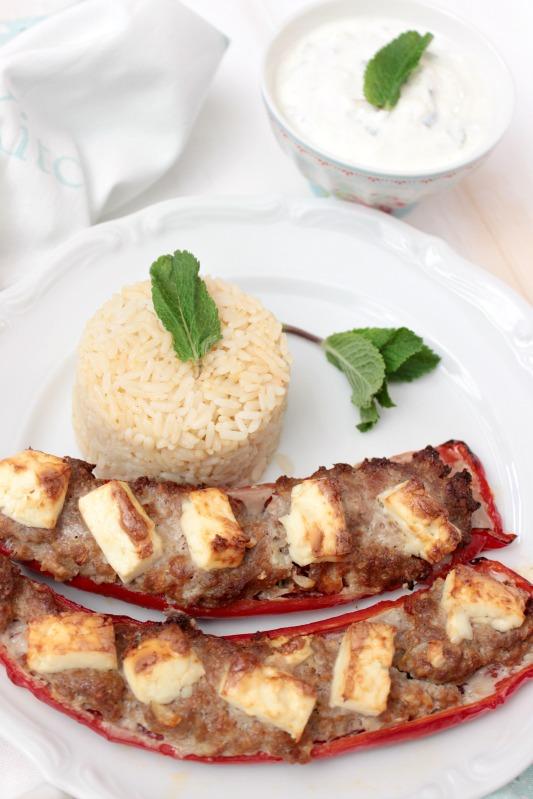 Ofenpaprika griechische Art mit Minzjoghurt 14