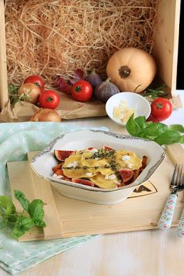 Girasoli mit Ziegenkäse und Thymianbutter auf Ofengemüse * 4