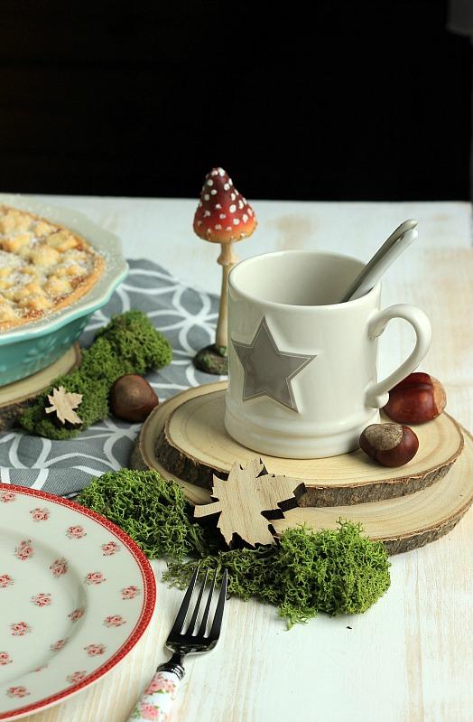 Kürbis Tarte mit Äpfeln und Schmandguss 8