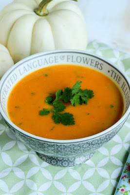 Süßkartoffel-Karottensuppe mit Curry und Kokosmilch 2