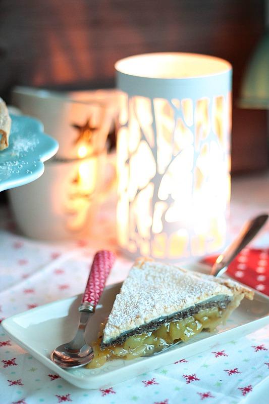 Adventskalendertürchen Nr.7 - Winterapfeltarte mit Mohn und Baiserhaube 19
