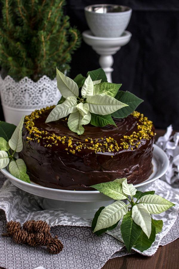 Walnuss-Birnen Torte mit Marzipanmousse 29