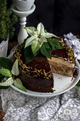 Walnuss-Birnen Torte mit Marzipanmousse 32