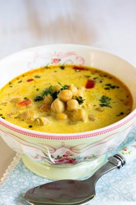 Schnelle,gesunde Kichererbsen Suppe mit Kokosmilch und vielen Gewürzen 5