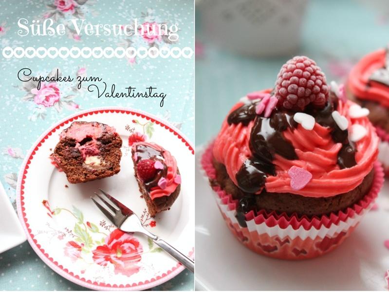 Himbeer-Schoko Cupcakes für Verliebte - eine Rezeptidee zum Valentinstag oder Muttertag 4