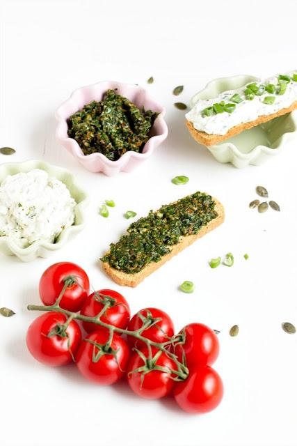 Bärlauch-Tomaten-Pesto und Bärlauch Aufstrich/Dip 4