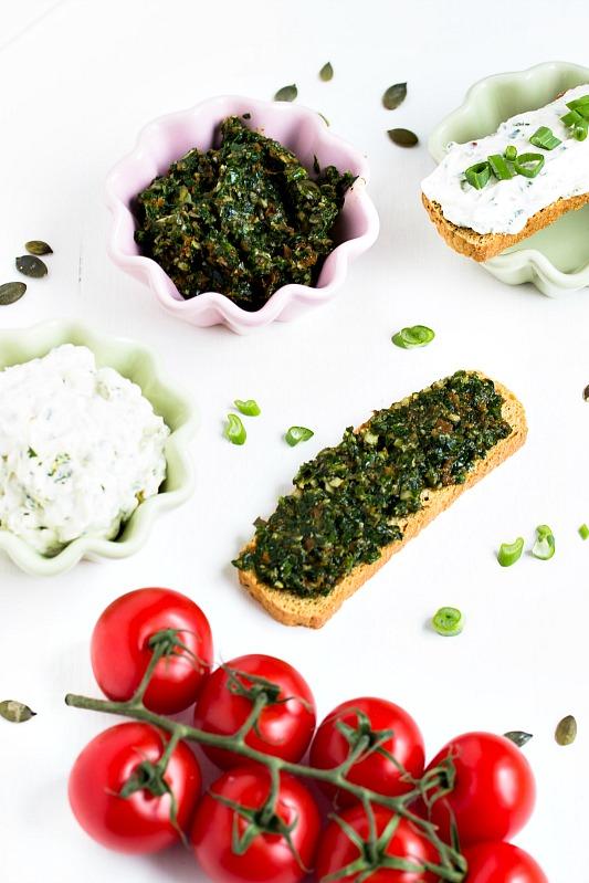 Bärlauch-Tomaten-Pesto und Bärlauch Aufstrich/Dip 5
