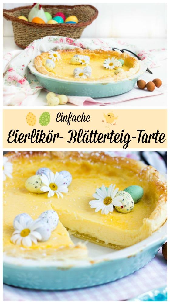 Schnelle Eierlikör-Blätterteig-Tarte