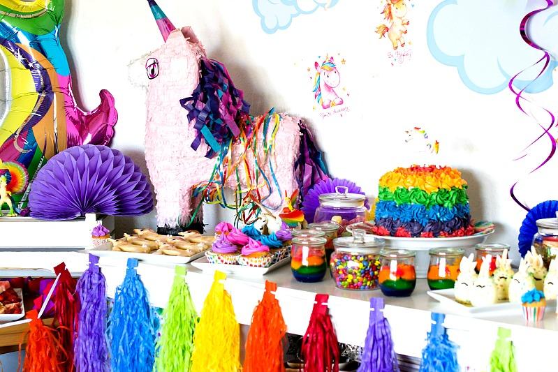 Ideen für eine tolle Einhorn / Regenbogen Party 6