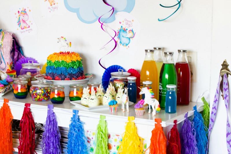 Ideen für eine tolle Einhorn / Regenbogen Party 12