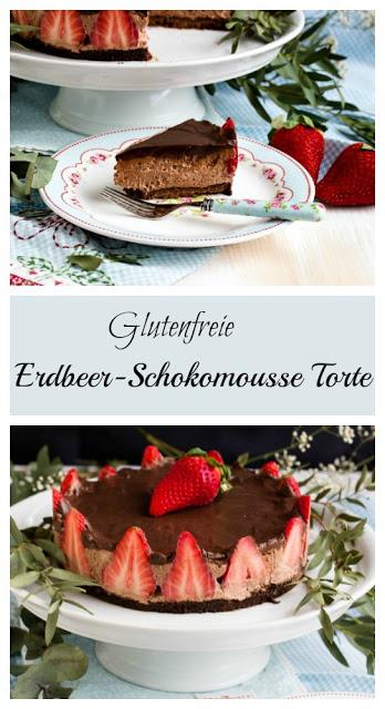 Glutenfreie Erdbeer-Schokomousse Torte 42