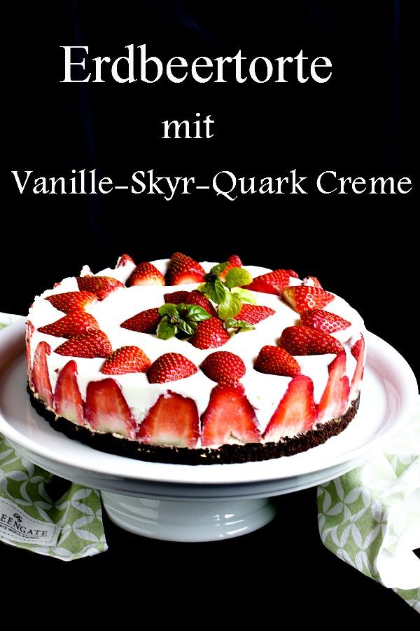 Erdbeertorte mit Vanille-Skyr-Quark Creme 10