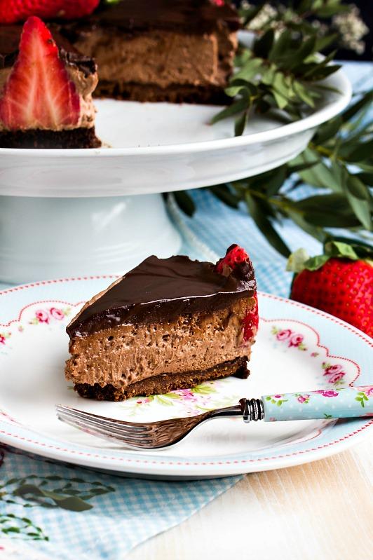 Glutenfreie Erdbeer-Schokomousse Torte 36