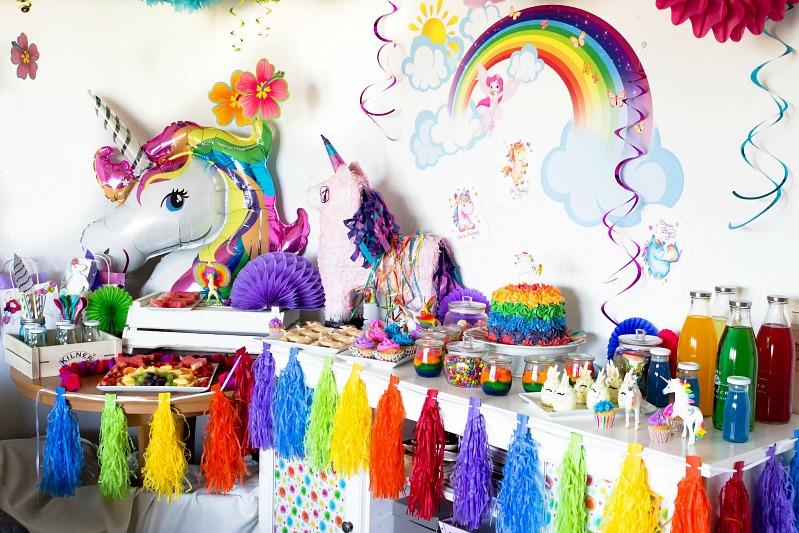 Ideen für eine tolle Einhorn / Regenbogen Party 11