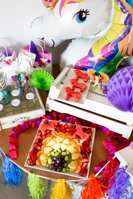 Ideen für eine tolle Einhorn / Regenbogen Party 4