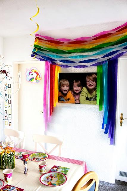 Ideen für eine tolle Einhorn / Regenbogen Party 35